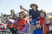 In addition to covering marine biology and effects of pollution on ocean ecosystems, the O'Neill Sea Odyssey taught students from Rio Del Mar Elementary School how to navigate with a compass.