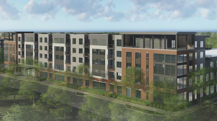 e0818677d572 An exterior rendering of the 195-unit life planning community. It will  offer three