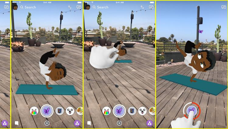 Snapchat Friendmojis Can Now Hang Out Together In Ar La Biz