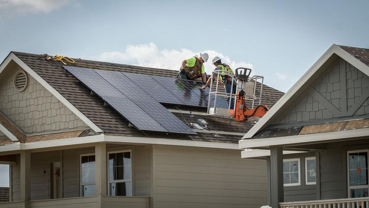 Pacesetter Homes is using solar energy panels in its Whisper Valley master-planned community near Manor, east of Austin.
