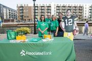 Associated Bank had a booth in the wellness area of the event.
