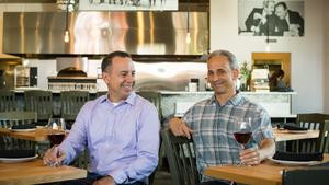 Michael Guerra and Joe Cannistraci co-owners of Enoteca La Storia a new wine bar now open in Little Italy.
