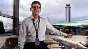 Paine Field airport director Arif Ghouse says the Snohomish County facility near Boeing's Everett plant is experiencing renewed interest in its development lands after plans for a new passenger terminal were unveiled in May.