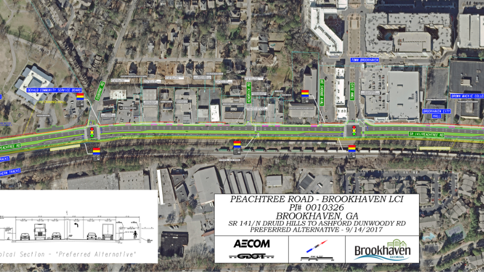 GDOT Plan Would Transform Peachtree Road In Brookhaven Atlanta - Brookhaven ga on us map