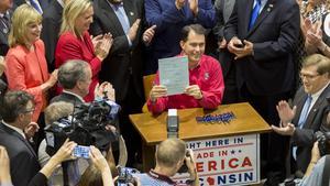 Gov. Scott Walker signed the $3 billion Foxconn incentive bill Sept. 18.