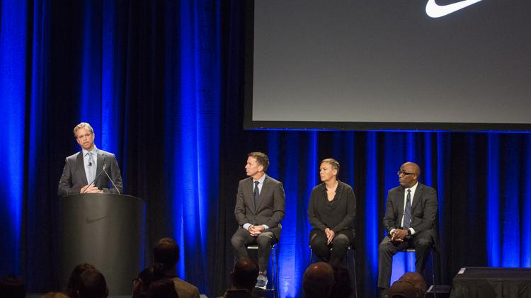 3179e9389 Mark Parker (left) told Nike shareholders that direct-to-consumer strategy  is