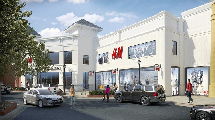 6f97618d76e21 A rendering of the two-story H M store that has been canceled for Brookwood  Village