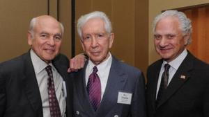 Steve Selig, Charles Ackerman and Fred Halperin in 2011 for the Hall of Distinction ceremony.