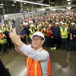 Toyota president makes surprise visit to San Antonio plant