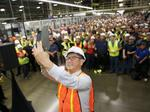 Toyota president makes surprise visit to San Antonio plant
