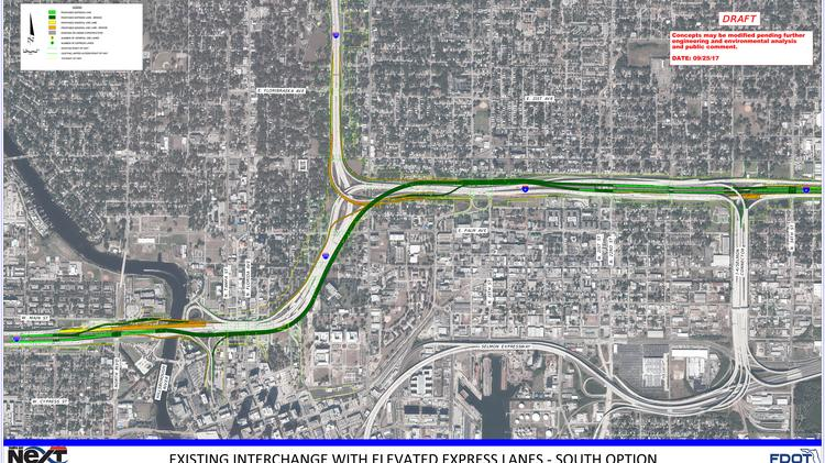 FDOT proposes expressway bridges, smaller footprint in new I
