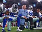 Dallas Cowboys, owner Jerry Jones kneel before national anthem at Arizona game; Trump keeps up NFL fight
