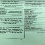 Here's what today's preliminary election ballot in Boston looks like