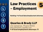 Top of the Phoenix Lists: Law Practices - Employment