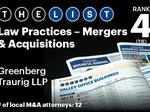 Top of the Phoenix Lists: Law Practices - Mergers & Acquisitions