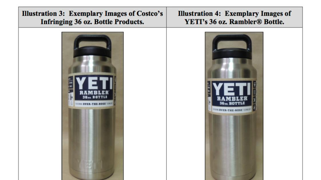 Yeti Coolers lashes out at Costco in court for similar-looking cups