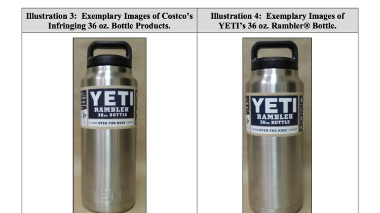 yeti coolers lashes out at costco in court for similar