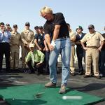 Pro golfer Greg Norman talks up high-tech golf deal with Verizon