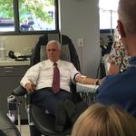 Mike Pence touts Trump tax cuts, gives blood for Vegas in Phoenix