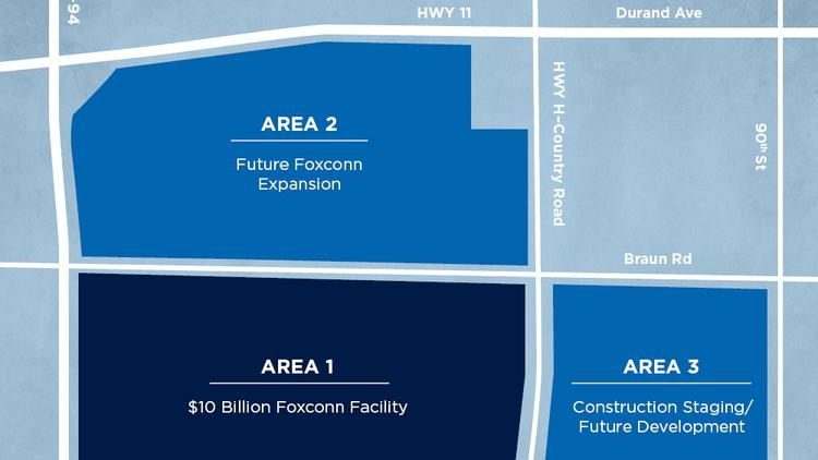 Foxconn announces location of $10 billion manufacturing