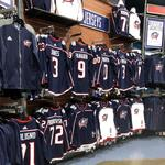 PHOTOS: Blue Jackets' retail shop stocked with new jerseys, ready for a packed house Friday night (Video)