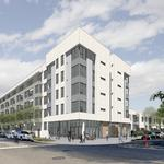 Developers kick off 110 pre-fab homes, half-affordable, half-market-rate, in East Oakland next to Coliseum BART