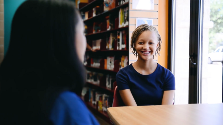 Quinn Langford, a local high schooler and daughter of Dell employees, appears in a new promo for the company's Power of One mentorship campaign.