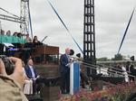 The Wharf's loud, soggy, pomp-and-circumstance-filled big day arrives