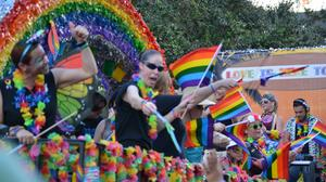 Pride parade and colorful people: Orlando's LGBT celebration
