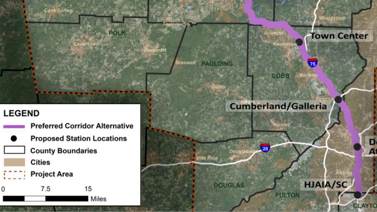 Preferred Route Selected For Chattanooga To Atlanta High Speed Rail