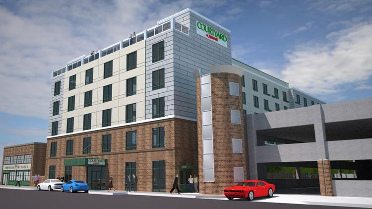 Rendering Of The Planned Downtown Hotel