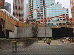 That's a lot of concrete: Crews pour foundation mat for Skanska's 2+U tower
