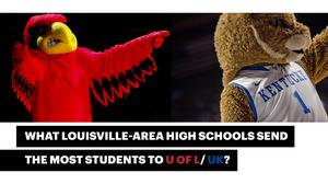 These high schools send the most students to U of L and UK