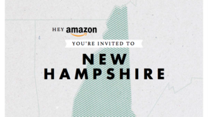 The cover page of New Hampshire's Amazon headquarters bid.