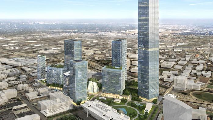 Developers unveil plans for new 20-acre urban campus in downtown Dallas