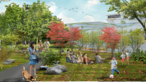 Bristol envisions Amazon's locating on a 700-acre property owned by Dow that fronts the Delaware River.