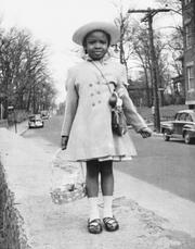 Faye Coleman celebrates Easter in the 1950s in Boston.