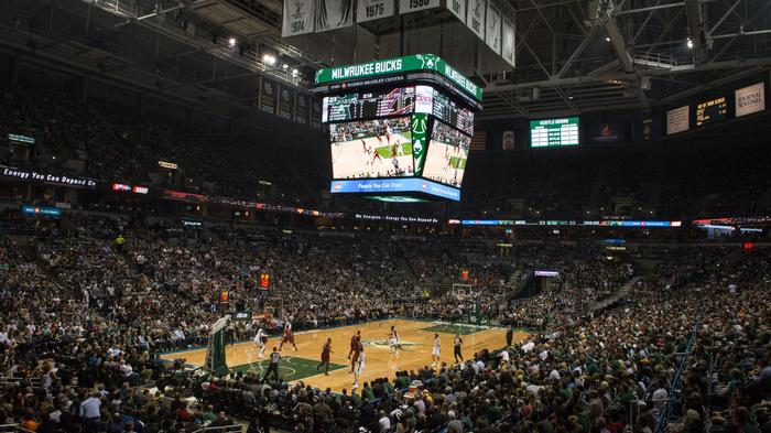 Scenes from last Milwaukee Bucks' home opener at the BMO Harris Bradley Center