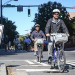 City testing out protected bike lanes in uptown this week (PHOTOS)