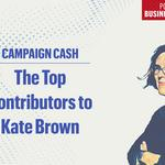 Top donors: Here's who's fueling Kate Brown's 2018 campaign