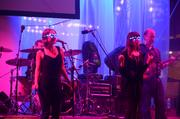 The final performance from Lawyers, Guns & Money included glow-in-the-dark shades.