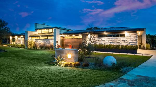Gorgeous One-Story Dick Clark Contemporary on 2 Acres