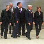 Mike Pence tours Lockheed Martin space campus with Marillyn Hewson