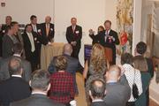 Business Journal publisher Doug Copeland speaks during a reception for the Fast 50 CEOs.