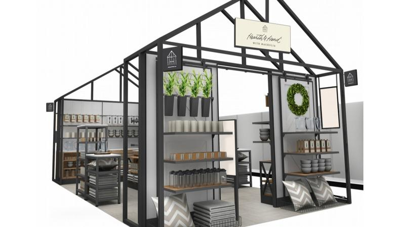 target stores will show off chip and joanna gaines line with 12 foot tall display bizwomen. Black Bedroom Furniture Sets. Home Design Ideas