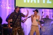 Singer Will McBride does his best impersonation of rapper Eminem.