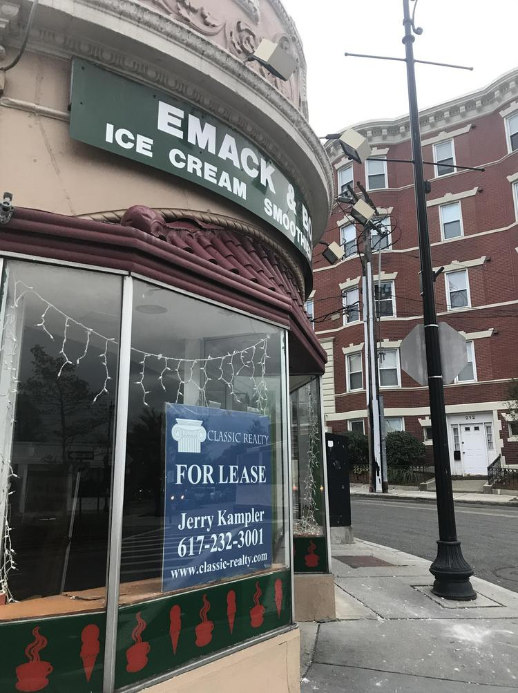 Emack & Bolio's former location in Brookline.