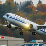 COMAC flies third C919 test flight as Boeing delivers first Air China 737 <strong>Max</strong> 8