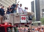 Photos: Fans pack downtown streets for Houston Astros' World Series championship parade and celebration