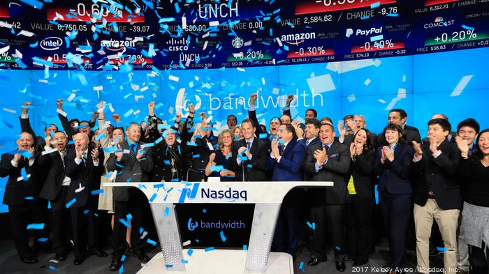 Bandwidth shares up following first earnings report